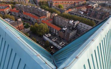 2 Abseiltechnieken toren laurenshof Rotterdam