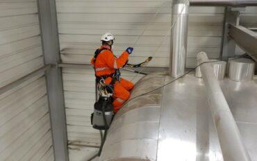 1 Abseiltechnieken rope access fabrieksreiniging