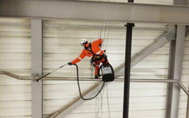 3 Abseiltechnieken rope access fabrieksreiniging