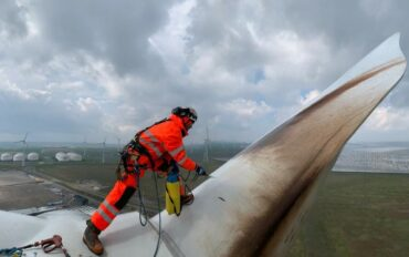 5 Abseiltechnieken rope access reiniging windmolens
