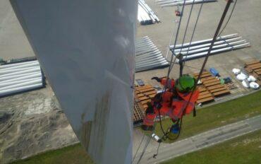 6 Abseiltechnieken rope access reiniging windmolens
